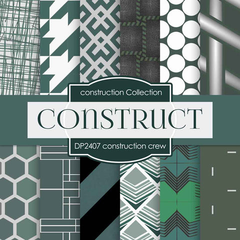 Construction Crew Digital Paper DP2407 - Digital Paper Shop - 1