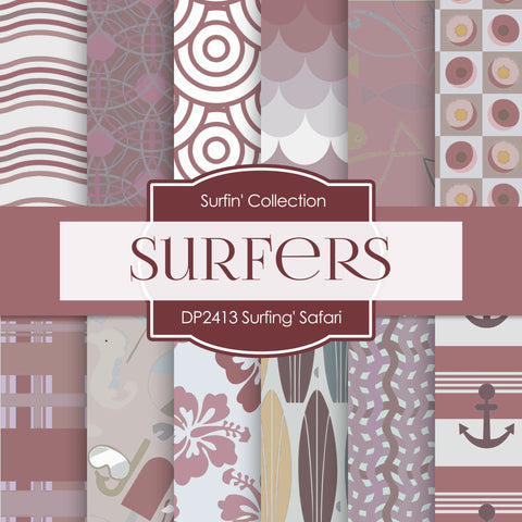 Surfin' Safari Digital Paper DP2413 - Digital Paper Shop - 1