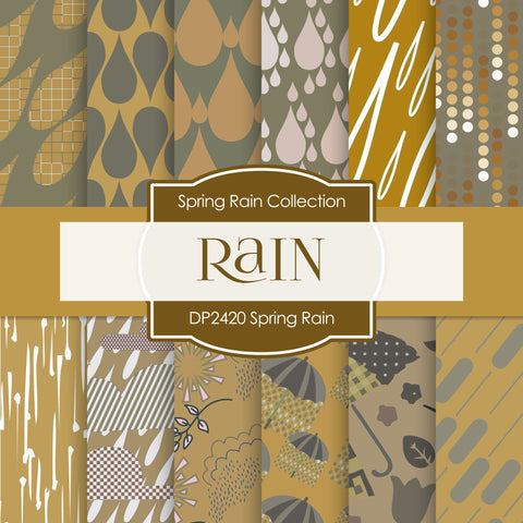 Spring Rain Digital Paper DP2420 - Digital Paper Shop - 1