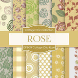 Cottage Chic Rose Digital Paper DP2424 - Digital Paper Shop - 1