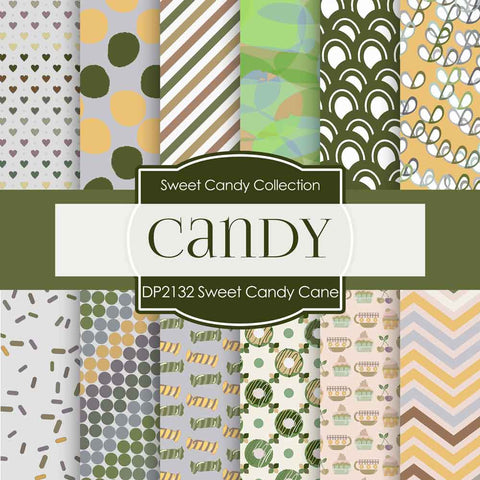 Sweet Candy Cane Digital Paper DP2432 - Digital Paper Shop