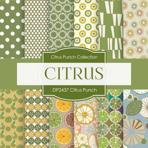 Citrus Punch Digital Paper DP2437 - Digital Paper Shop - 1
