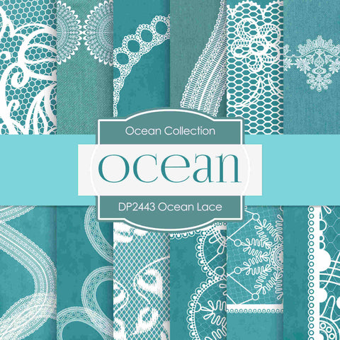 Ocean Lace Digital Paper DP2443 - Digital Paper Shop - 1