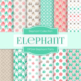 Elephant Party Digital Paper DP244 - Digital Paper Shop - 1