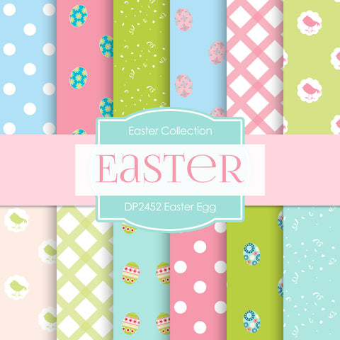 Easter Egg Digital Paper DP2452 - Digital Paper Shop - 1