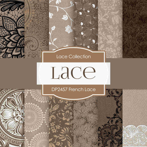 French Lace Digital Paper DP2457 - Digital Paper Shop - 1
