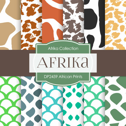 African Prints Digital Paper DP2459 - Digital Paper Shop - 1