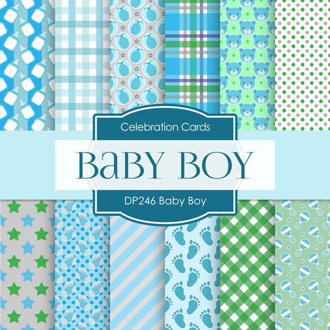 Baby Boy Digital Paper DP246 - Digital Paper Shop - 1
