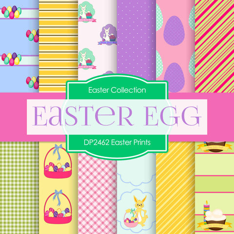 Easter Prints Digital Paper DP2462 - Digital Paper Shop - 1