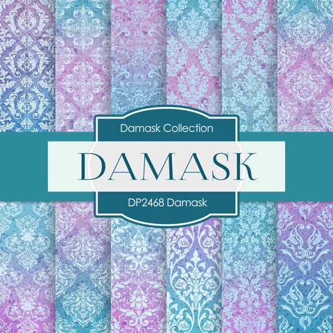 Damask Digital Paper DP2468 - Digital Paper Shop - 1