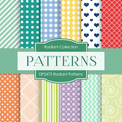 Radiant Patterns Digital Paper DP2472 - Digital Paper Shop - 1
