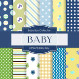 Baby Boy Digital Paper DP2473 - Digital Paper Shop - 1
