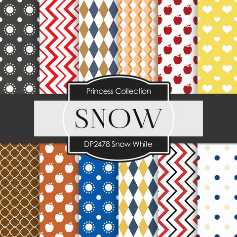 Snow White Digital Paper DP2478 - Digital Paper Shop - 1