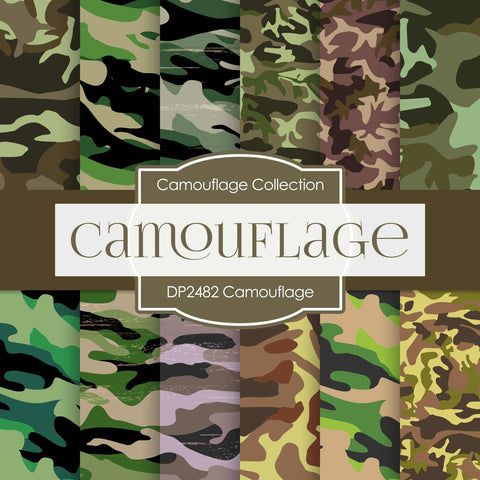Camouflage Digital Paper DP2482 - Digital Paper Shop - 1