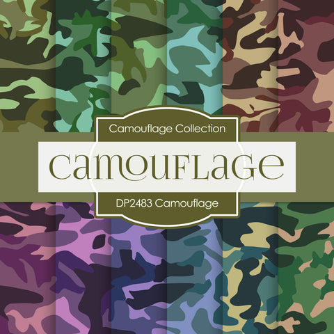 Camouflage Digital Paper DP2483 - Digital Paper Shop - 1