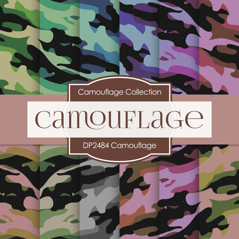 Camouflage Digital Paper DP2484 - Digital Paper Shop - 1