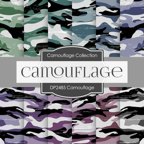 Camouflage Digital Paper DP2485 - Digital Paper Shop - 1