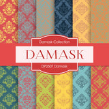 Damask Digital Paper DP2507 - Digital Paper Shop - 1