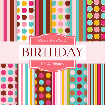 Birthday Digital Paper DP253 - Digital Paper Shop - 1