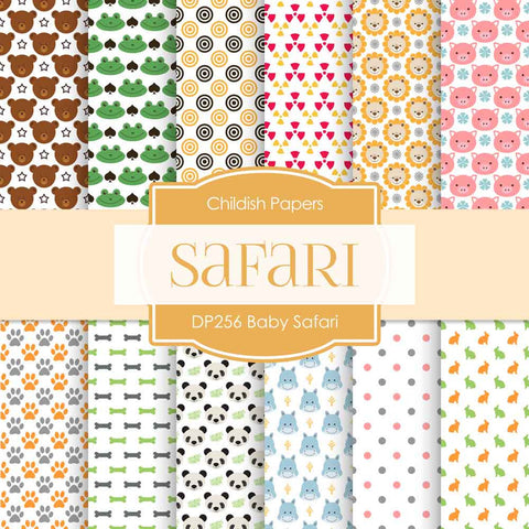 Baby Safari Digital Paper DP256 - Digital Paper Shop