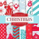 Advent Calendar Digital Paper DP257 - Digital Paper Shop - 1