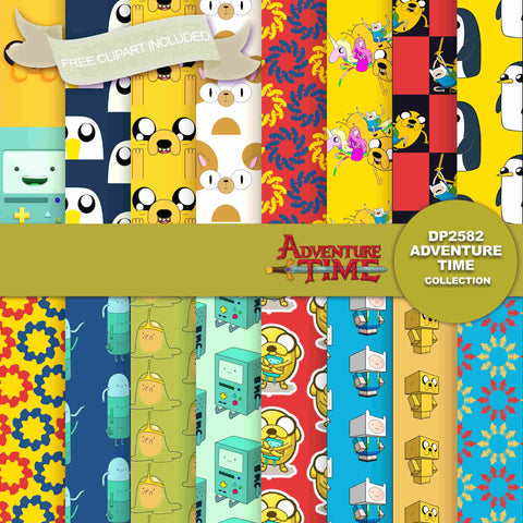 Adventure Time Digital Paper DP2582 - Digital Paper Shop - 1