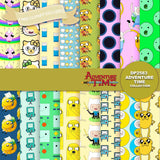 Adventure Time Digital Paper DP2583 - Digital Paper Shop - 1