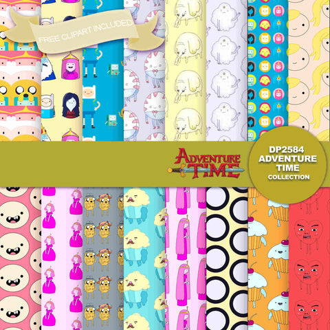 Adventure Time Digital Paper DP2584 - Digital Paper Shop - 1