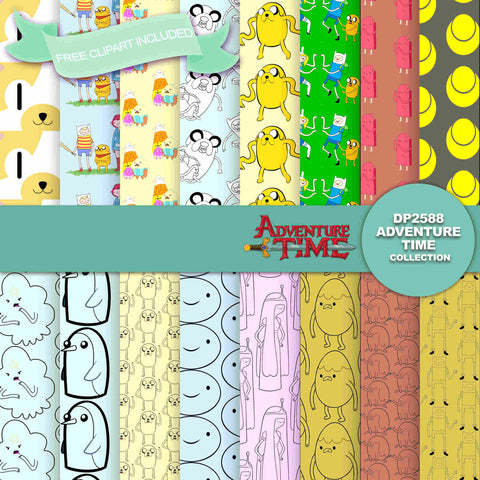 Adventure Time Digital Paper DP2588 - Digital Paper Shop - 1