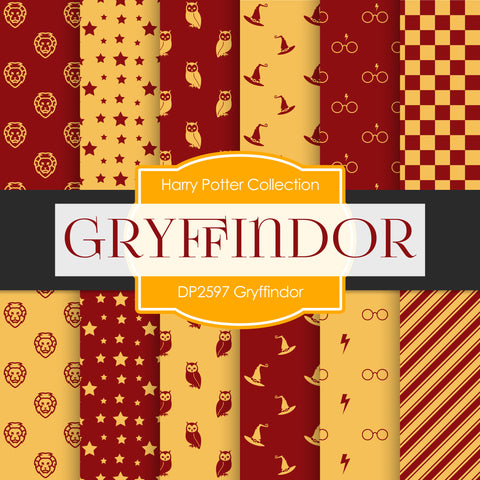 Gryffindor Digital Paper DP2597 - Digital Paper Shop - 1