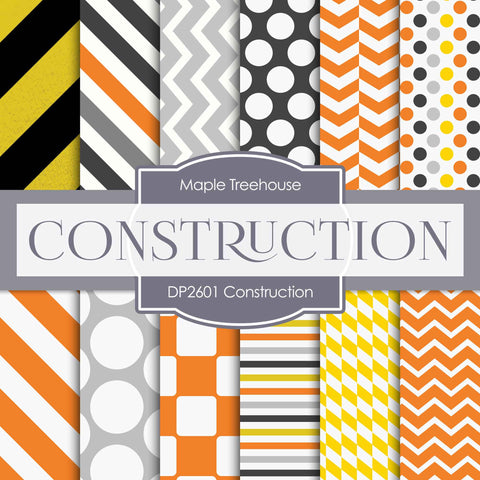 Construction Digital Paper DP2601 - Digital Paper Shop - 1