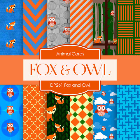 Fox And Owl Digital Paper DP261 - Digital Paper Shop - 1