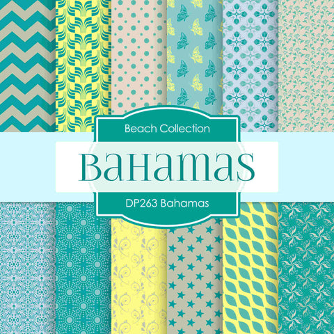 Bahamas Digital Paper DP263 - Digital Paper Shop - 1