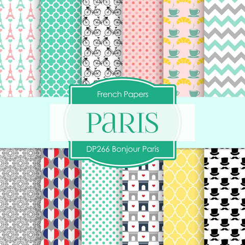 Bonjour Paris Digital Paper DP266 - Digital Paper Shop - 1