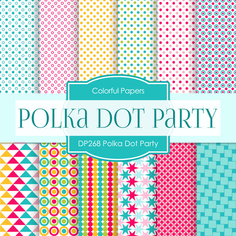 Polka Dot Party Digital Paper DP268 - Digital Paper Shop - 1