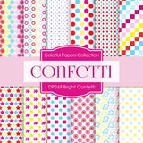 Bright Confetti Digital Paper DP269 - Digital Paper Shop - 1