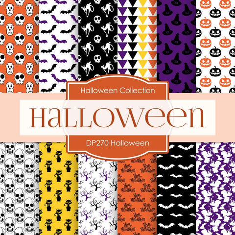 Halloween Digital Paper DP270 - Digital Paper Shop - 1