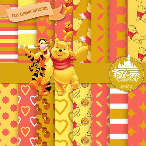 Winnie The Pooh Digital Paper DP2705 - Digital Paper Shop - 1