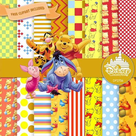 Winnie The Pooh Digital Paper DP2706 - Digital Paper Shop - 1
