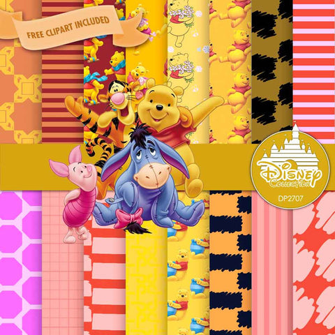 Winnie The Pooh Digital Paper DP2707 - Digital Paper Shop - 1