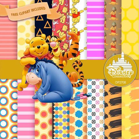 Winnie The Pooh Digital Paper DP2708 - Digital Paper Shop - 1