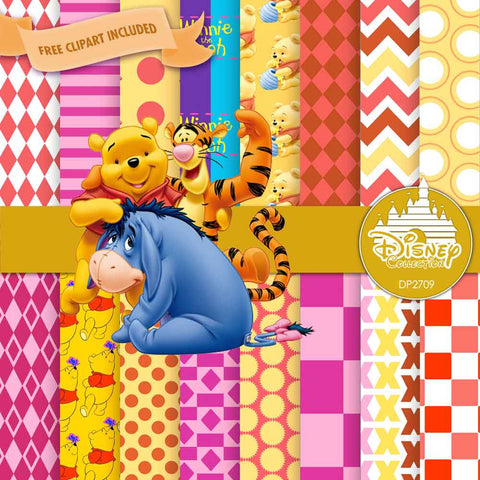 Winnie The Pooh Digital Paper DP2709 - Digital Paper Shop - 1