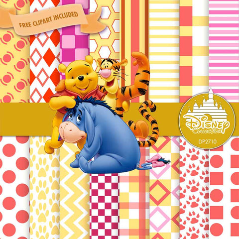 Winnie The Pooh Digital Paper DP2710 - Digital Paper Shop - 1