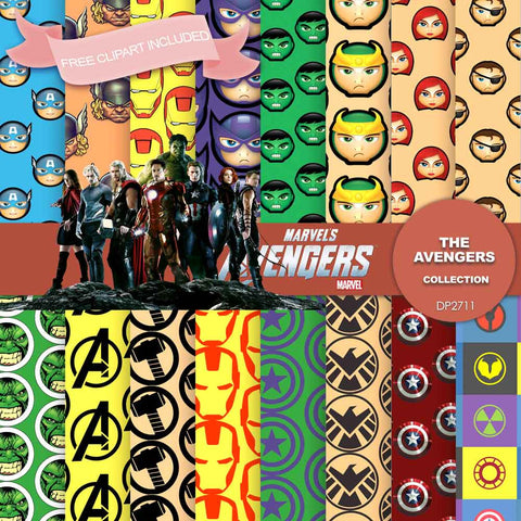 Avengers Digital Paper DP2711 - Digital Paper Shop - 1