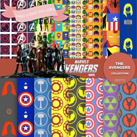 Avengers Digital Paper DP2712 - Digital Paper Shop - 1