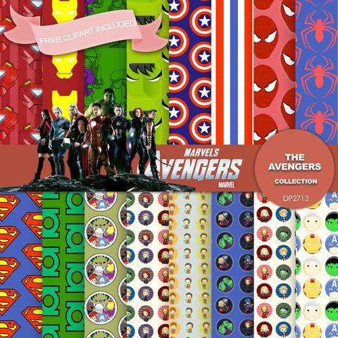 Avengers Digital Paper DP2713 - Digital Paper Shop - 1