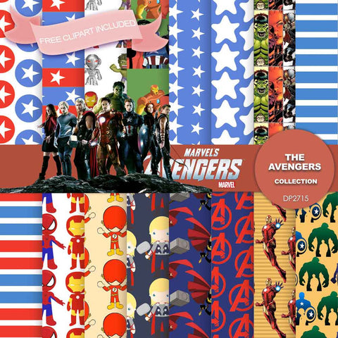 Avengers Digital Paper DP2715 - Digital Paper Shop - 1