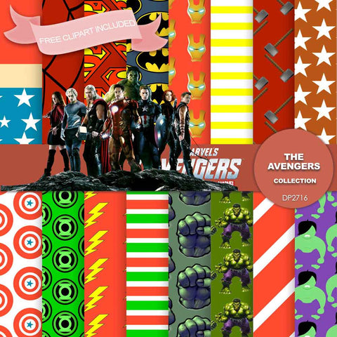 Avengers Digital Paper DP2716 - Digital Paper Shop - 1