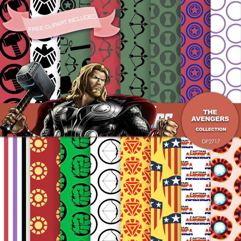 Avengers Digital Paper DP2717 - Digital Paper Shop - 1