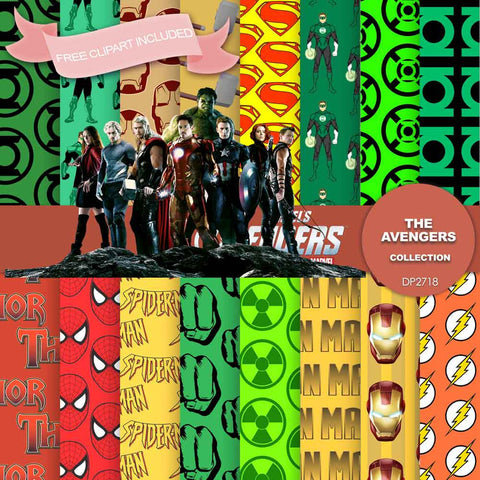 Avengers Digital Paper DP2718 - Digital Paper Shop - 1